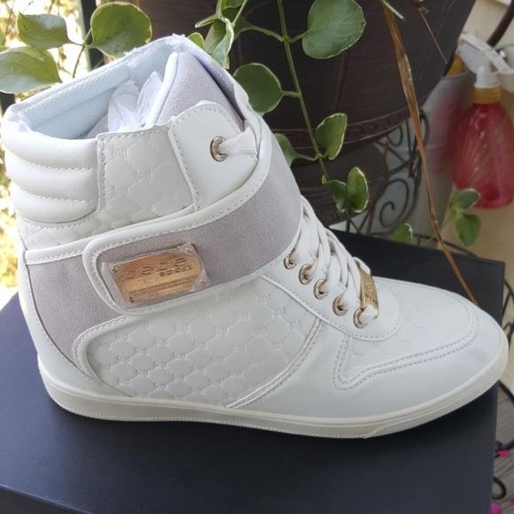 eb78e46efe5 Bebe Colby wedge sneakers